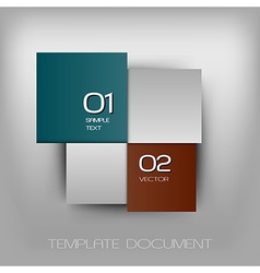 Business four squares dark two color with text vector