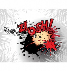 comic book explosions vector image