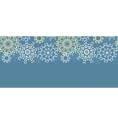 Yellow gray abstract mandalas horizontal seamless vector image