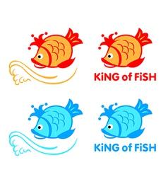 King of fish symbol vector image