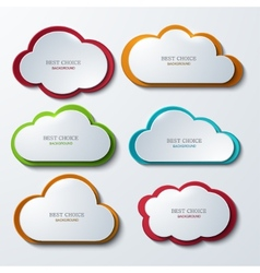 modern clouds banners set vector image