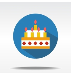 Flat icons of cake vector