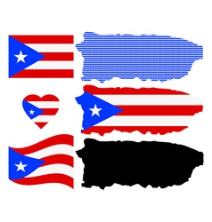 Map of puerto rico vector