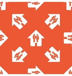 Orange family house pattern vector