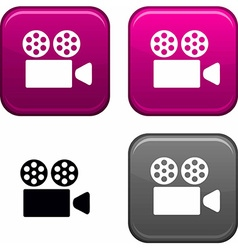 Cinema button vector image