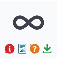 Limitless sign icon infinity symbol vector