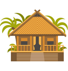 Bungalow house vector