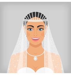 beautiful smiling bride in veil vector image