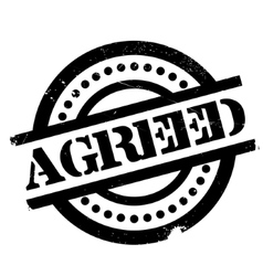 Agreed rubber stamp vector