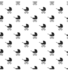 Baby carriage pattern simple style vector