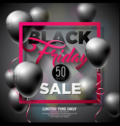black friday sale with shiny vector image vector image