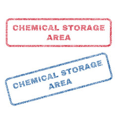 Chemical storage area textile stamps vector