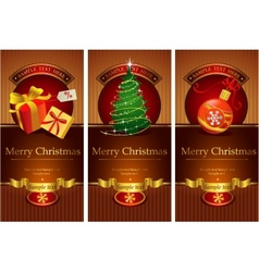 Classic christmas banners vector image