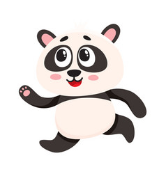 cute and funny smiling baby panda character vector image vector image