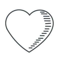 cute heart icon vector image vector image