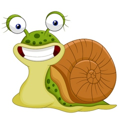 Cute snail cartoon vector