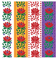 czech folk seamless pattern fabric jacquard ribbon vector image