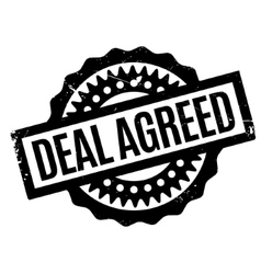 Deal agreed rubber stamp vector
