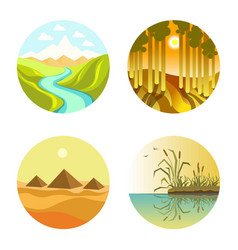 different nature circles vector image