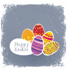 Easter eggs vintage background vector image vector image