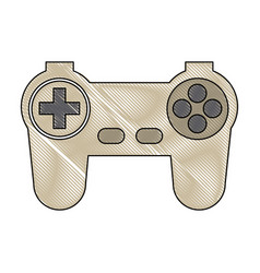 game controller or joystick console keypad icon vector image