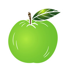 green apple - vector image vector image