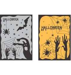 Halloween set of two vertical banners vector
