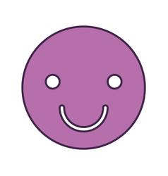 happy face emogy icon vector image