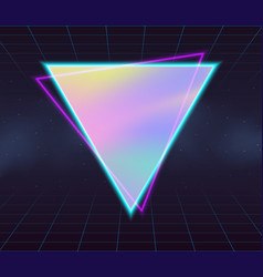 holographic backgrounds vector image