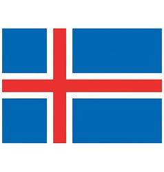 Icelandic flag vector