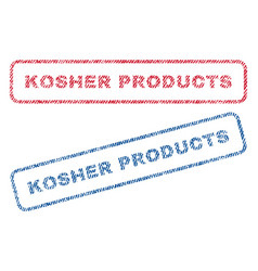 Kosher products textile stamps vector