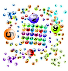lottery balls brushes vector image vector image
