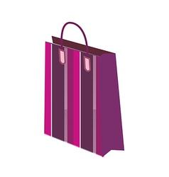 One shopping bag vector