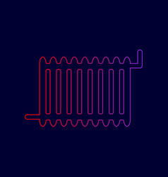 radiator sign line icon with gradient vector image vector image