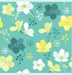 Seamless floral pattern with colorful flowers vector
