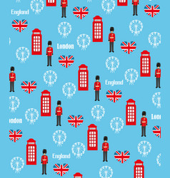 Seamless pattern background with london symbols vector