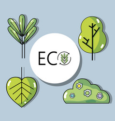 Set ecology conservation and environment care vector