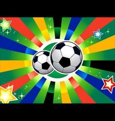 Soccer balls vector