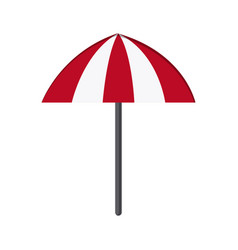 Striped umbrella icon vector