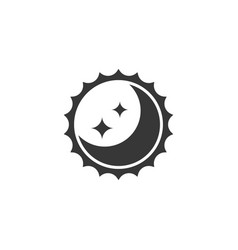 sun and moon for day and night sign silhouette ic vector image
