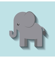 tender cute elephant card icon vector image vector image