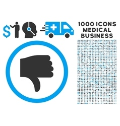 Thumb Down Icon with 1000 Medical Business vector image vector image