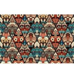 Tile rich floral ornament rhombus vector