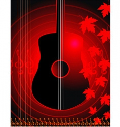 violin and maple leaf vector image vector image