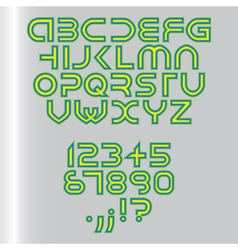 Fonts vector image