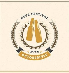 Beer festival octoberfest celebration retro style vector