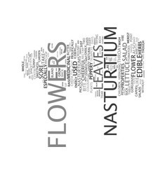 Flowers text background word cloud concept vector