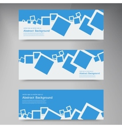 Banner abstract blue brochure squares vector