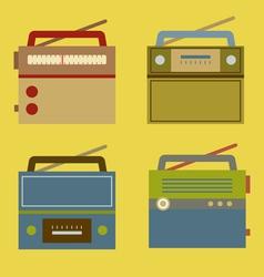 Flat Design Vintage Radio vector image