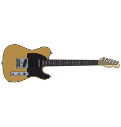 Classic electric guitar vector